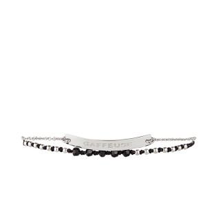 GAFFEUSE Bracelet chaine argenté à message