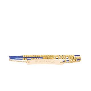 BLABLABLA Bracelet chaine doré à message