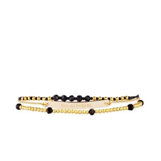BLONDE Bracelet chaine doré à message