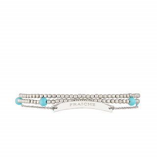 FRAICHE Bracelet chaine argenté à message