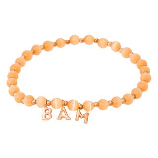 BAM Bracelet perle et lettering rosé à message