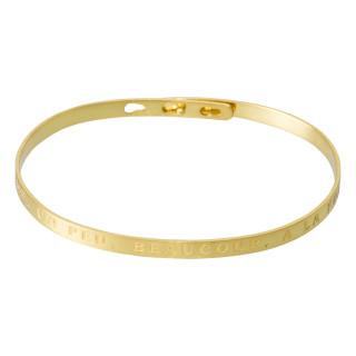 JE T'AIME, UN PEU, BEAUCOUP, A LA FOLIE Jonc doré bracelet à message
