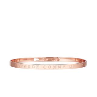 BAVARDE COMME UNE PIE Jonc rosé bracelet à message