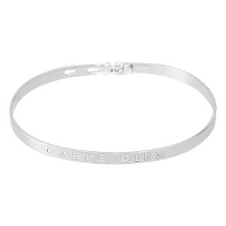CARPE DIEM bracelet jonc argenté à message
