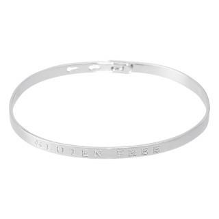 GLUTEN FREE Jonc argenté bracelet à message