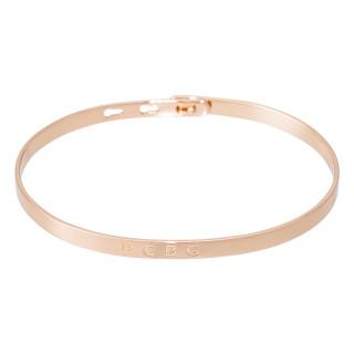 BCBG bracelet jonc rosé à message