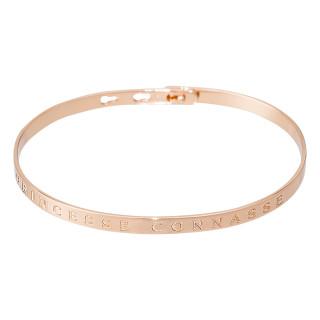 PRINCESSE CONNASSE Jonc rosé bracelet à message
