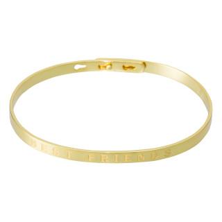 BEST FRIENDS Jonc doré bracelet à message