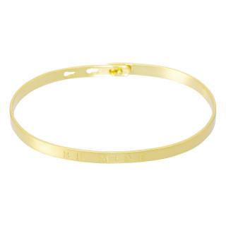 BE MINE bracelet jonc doré à message