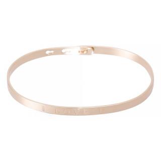 I LOVE U Jonc rosé bracelet à message
