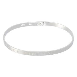 BESOIN DE RIEN ENVIE DE TOI bracelet jonc argenté à message