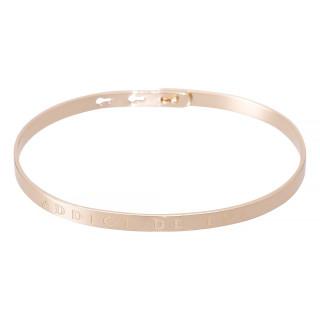 ADDICT DE TOI bracelet jonc rosé à message