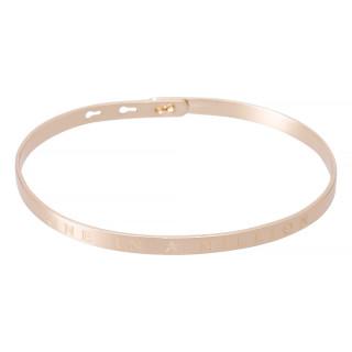 ONE IN A MILLION bracelet jonc rosé à message
