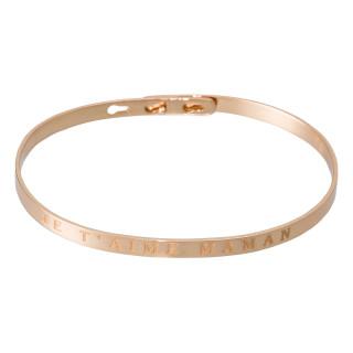 JE T'AIME MAMAN Jonc rosé bracelet à message