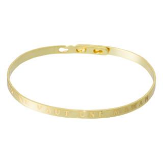 RIEN NE VAUT UNE MAMAN Jonc doré bracelet à message