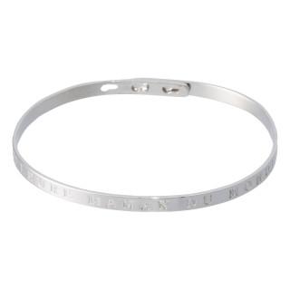 MEILLEURE MAMAN DU MONDE bracelet jonc argenté à message