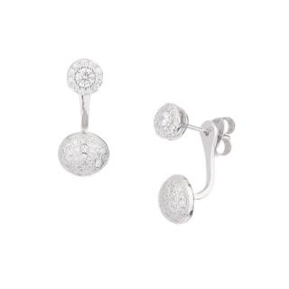 Boucles d'oreilles argent et oxydes de zirconium Pendantes classiques