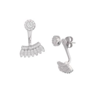 Boucles d'oreilles argent et oxydes de zirconium Safari Chic