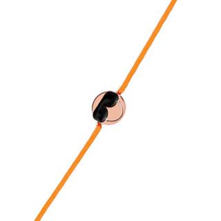 Bracelet cordon Smiley vermeil rose et cordon orange Cool