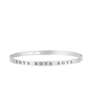BOYS BOYS BOYS bracelet jonc argenté à message