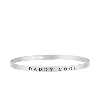 DADDY COOL bracelet jonc argenté à message