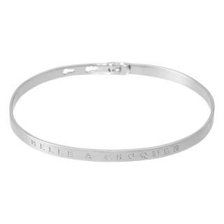 BELLE A CROQUER bracelet jonc argenté à message