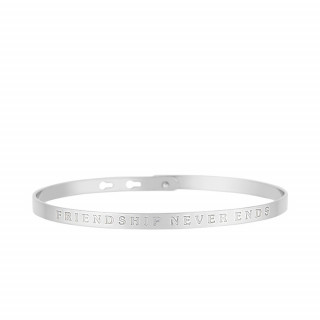 FRIENDSHIP NEVER ENDS bracelet jonc argenté à message