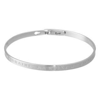 MARRAINE, MA REINE D'AMOUR bracelet jonc argenté à message