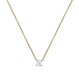 Collier Or Jaune et Diamant 0,33 carat BRILLANT D'AMOUR