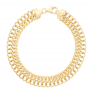 Bracelet Or Jaune  Maille Infini creuse