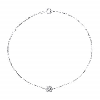 Bracelet Or Blanc et Diamants 0,05 carat SIMPLY DIAMONDS