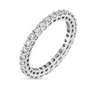 Alliance Or Blanc et Diamants 1 carat MON TOUR COMPLET