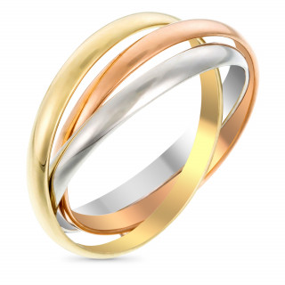 Bague Or Tricolore Tri or