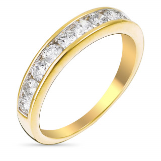Alliance Or Jaune et Diamants 0,75 carat ALLIANCE RAIL