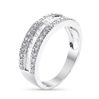Bague Or Blanc et Diamants 0,63 carat MARABELLA