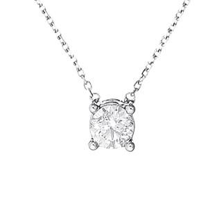 Collier Or Blanc et Diamant 0,33 carat BRILLANT D'AMOUR
