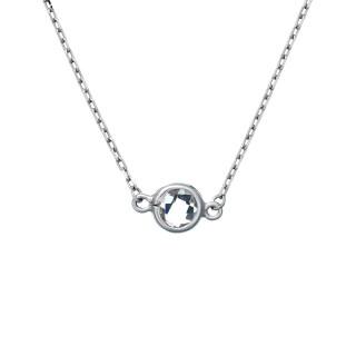 Collier Or Blanc et Diamants 0,22 carat SUNSHINE