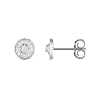 Boucles d'oreilles Or Blanc et Diamants 0,12 carat DIVINE