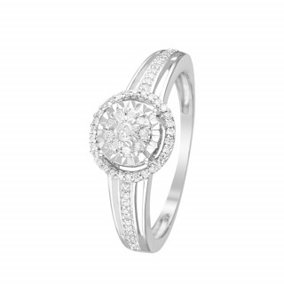 Bague Or Blanc et Diamants 0,2 carat GRENNELLE