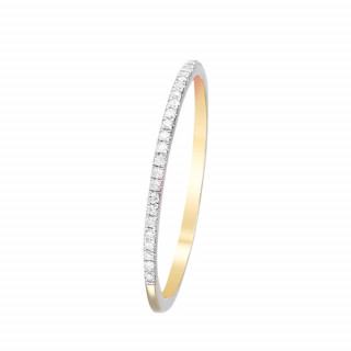Bague Or Jaune et Diamants 0,08 carat SIMPLY YOU