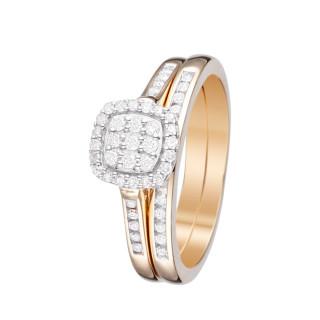 Duo de Bagues Or Jaune et Diamants 0,37 carat MON VOEU LE PLUS CHER