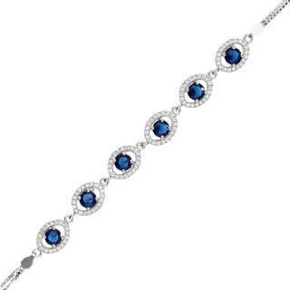 Bracelet en argent et oxydes de zirconium Ronde d'Iris