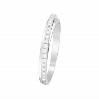 Bague Or Blanc et Diamants 0,12 carat ALLIANCE DIVINE
