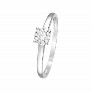 Bague Or Blanc et Diamants 0,11 carat AKNA