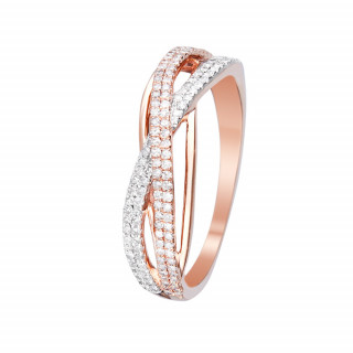 Bague Or Rose et Diamants 0,31 carat MA FORCE
