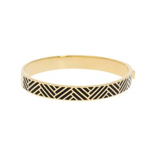 Bracelet jonc RIO Émail noir finition dorée
