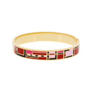 Bracelet jonc JAIPUR'' émail multicolore finition dorée