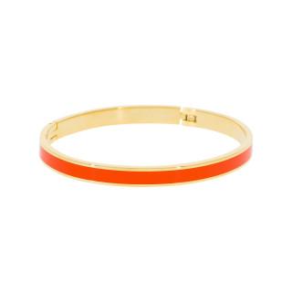 Bracelet jonc TORONTO Émail orange finition dorée