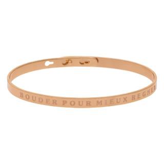 BOUDER POUR MIEUX REGNER bracelet jonc rosé à message