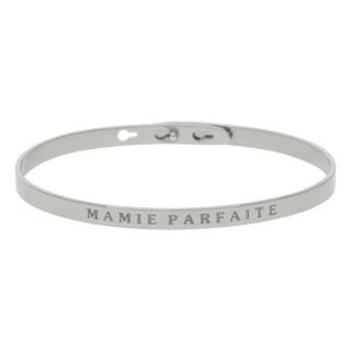 MAMIE PARFAITE bracelet jonc argenté à message